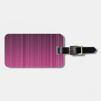Pink Stripes Luggage Tag