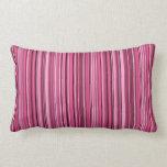Pink Stripes Lumbar Pillow