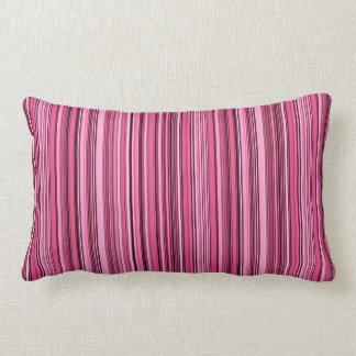 Pink Stripes Lumbar Pillow