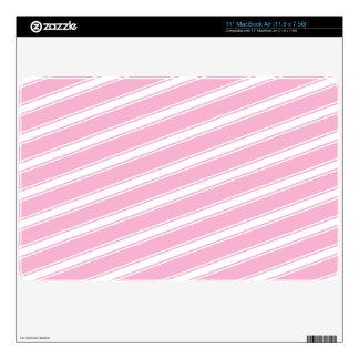 Pink Stripes Macbook Patter Cute Design Skin Skin For The MacBook Air