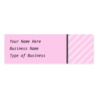 Pink Stripes. Mini Business Card