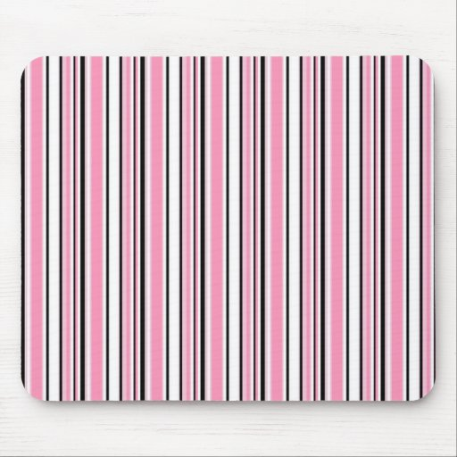 Pink Stripes Mouse Pad