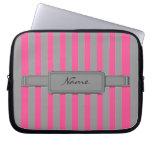 Pink stripes Neoprene Laptop Sleeve