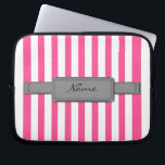 """Pink stripes Neoprene Laptop Sleeve<br><div class=""""desc"""">Protect your laptop with a custom laptop sleeve. Made with 100% neoprene,  these lightweight and water resistant sleeves look great with your photos,  text,  or designs.</div>"""