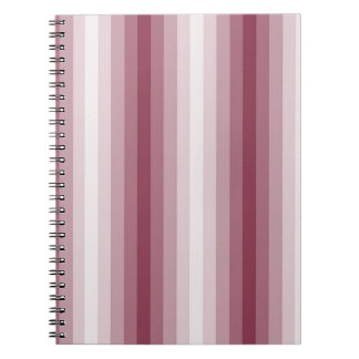 Pink Stripes Spiral Note Books