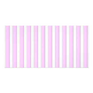 Pink Stripes on White Card
