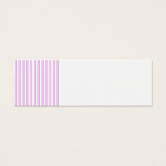 Pink Stripes on White Mini Business Card