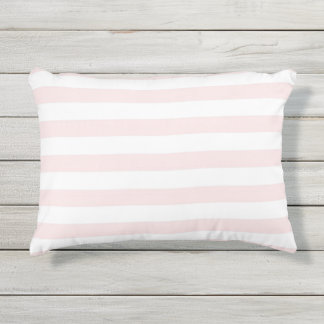 Pink Stripes Outdoor Pillow