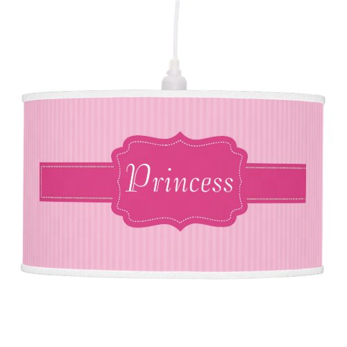 Pink Stripes Pattern baby Girl's Nursery Princess Hanging Pendant Lamps