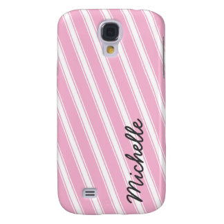 Pink Stripes Pattern HTC Vivid Cell Phone Case Galaxy S4 Cases