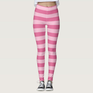 pink stripes pattern tights