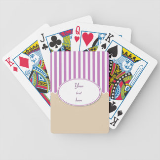 Pink Stripes Playing Cards