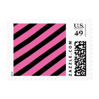pink stripes postage