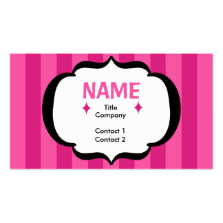 Pink Stripes Profile Card