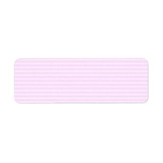 Pink Stripes. Return Address Label