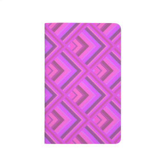 Pink stripes scale pattern journal