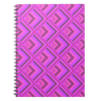 Pink stripes scale pattern spiral notebook