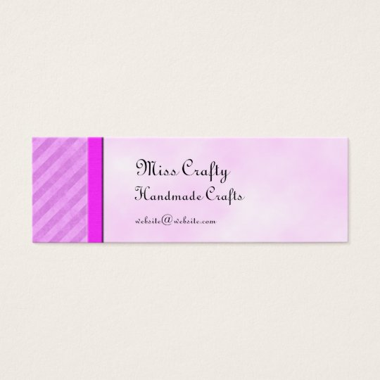 Pink Stripes Skinny Card Gift Tag Template