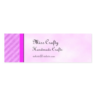 Pink Stripes Skinny Card Gift Tag Template Business Card Template