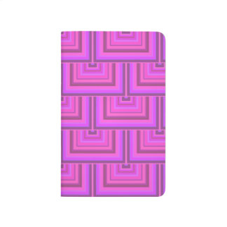 Pink stripes square scales pattern journal