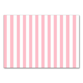 Pink Stripes Table Cards