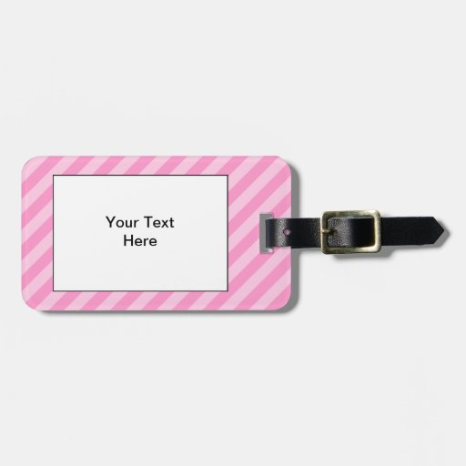 Pink Stripes. Tag For Luggage