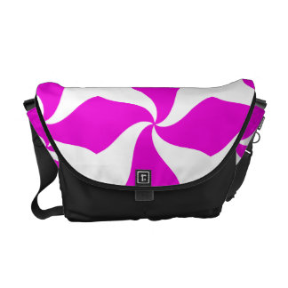 Pink Stripes Urban messenger  Rickshaw Bag