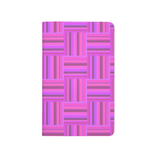 Pink stripes weave pattern journal