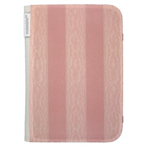 Pink stripped moire design wallpaper, 1895-1910 kindle covers