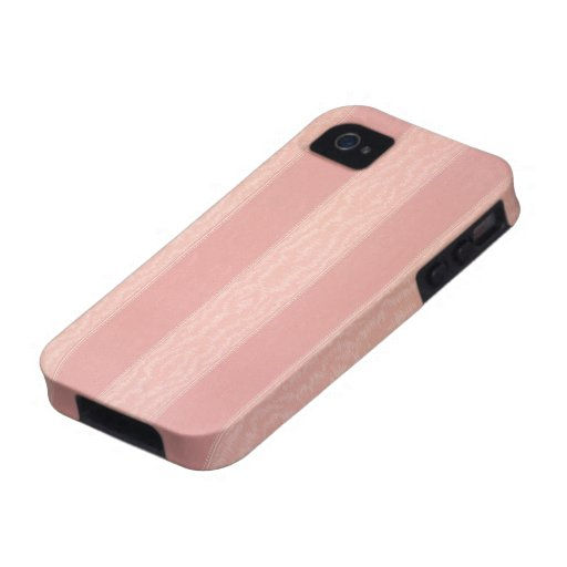 Pink stripped moire design wallpaper, 1895-1910 vibe iPhone 4 cover