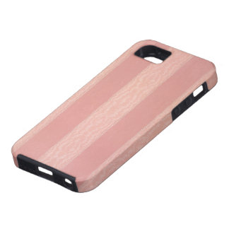 Pink stripped moire design wallpaper, 1895-1910 iPhone SE/5/5s case