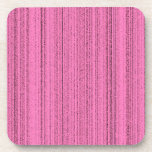 Pink Strips Beverage Coasters