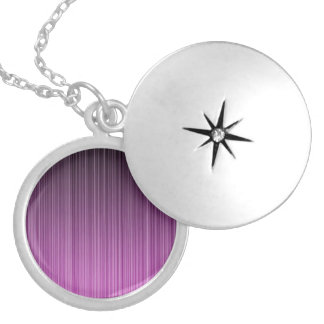 Pink Stripy Silver Plated Necklace