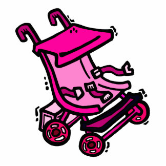 Pink Stroller Photo Cutout