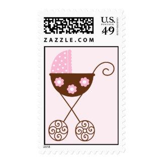 Pink Stroller Stamp