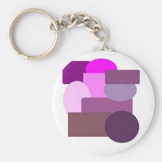 pink stuff 2 basic round button keychain