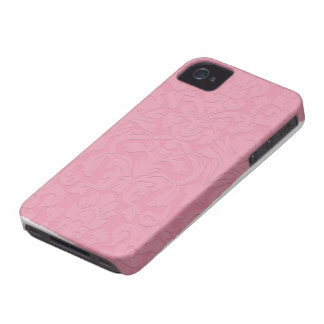 Pink Subtle Embossed Style Damask Iphone 4/4S Case iPhone 4 Cases