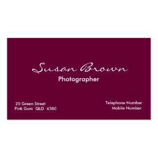 Pink Succulent Business Card