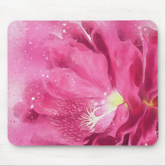 Pink Succulent Cactus Watercolor Flower Bloom Mouse Pad