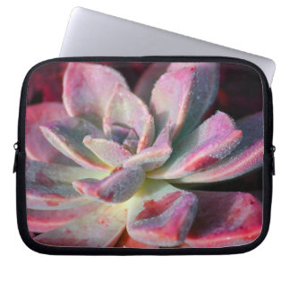 Pink Succulent Laptop Sleeve