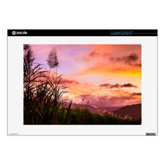 """Pink Sugar Cane Blossom Decals For 15"""" Laptops"""