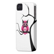 Pink Sugar Skull Owl in Tree Case