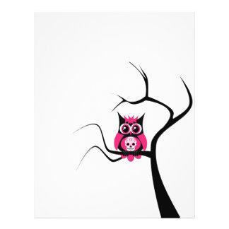 Pink Sugar Skull Owl in Tree Flyer