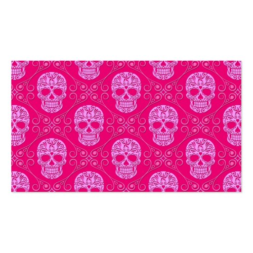 Pink Sugar Skull Pattern Double-Sided Standard Business Cards (Pack Of 100)