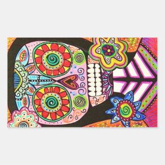 Pink Sugar Skull Woman Sticker