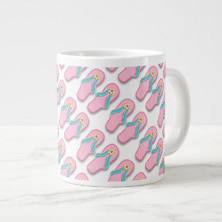 Pink Summer FlipFlops 20 Oz Large Ceramic Coffee Mug