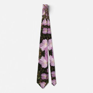 Pink Summer Flowers Photo  Tie