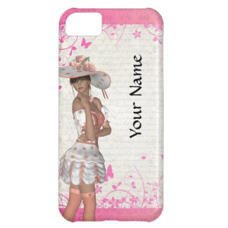 Pink summer girl case for iPhone 5C