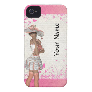 Pink summer girl Case-Mate iPhone 4 case