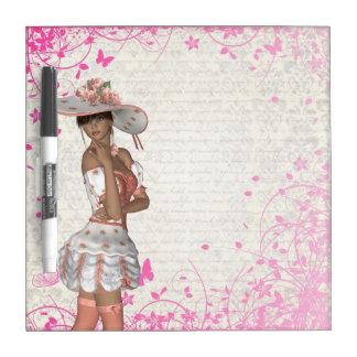 Pink summer girl Dry-Erase board